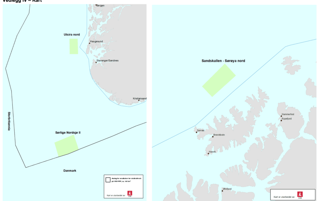 Hearing for opening areas for offshore wind Norway